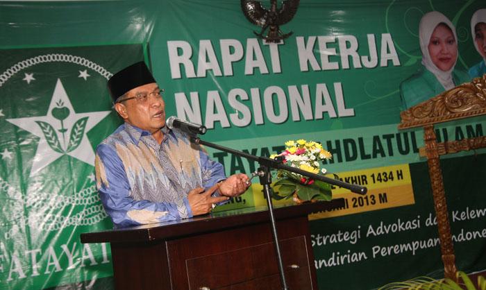 Ketua Umum PBNU, KH Said Aqil Siradj  Ajak Fatayat NU Pilih PKB